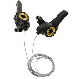 1 Pair 3x5/6/7 Speed MTB Bike Thumb Gear Shifter Top Mount S