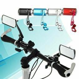 1 Pair Cycling Bike Bicycle Handlebar Rear View Mirror Flexi