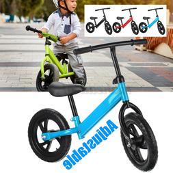 12'' Kids Balance Bike Adjustable No-Pedal Learn To Ride Pre