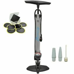 Lumintrail 160 PSI Presta Schrader Bike Floor Pump w/ Gauge
