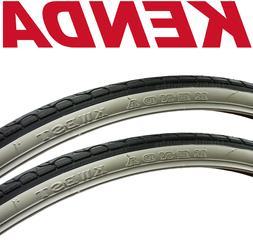 2-Pack Kenda Kwest K193 Whitewall 700 x 32 Bike Tires Urban