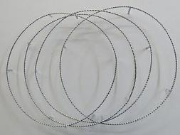 2 Sets Chrome Twisted Rim Rings For 20 inch Lowrider Bike