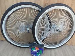 "20"" Lowrider Bicycle Dayton Chrome Wheels & White Walls 140"