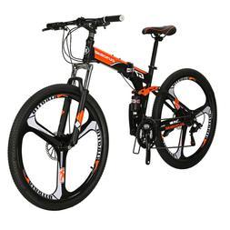 """27.5"""" Folding Mountain Bike Full Suspension Bicycle 21 Speed"""