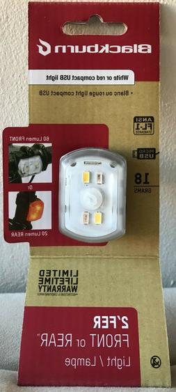 Blackburn 2Fer Front or Rear LED White or Red USB Rechargeab