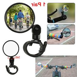 2x Bicycle Back Mirror Handlebar Rear View Rearview Cycling
