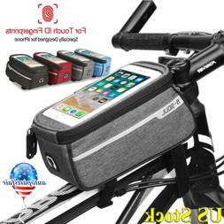 "6.0"" Bicycle Cycling Bike Front Tube Frame Bag MTB Waterproo"