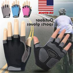 Anti-Slip Men Women Cycle Sports Half Finger Gloves Cycling