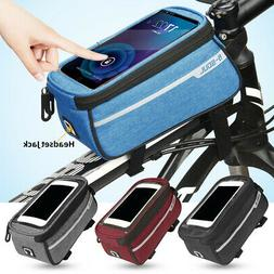 Bicycle Bike Cycling Front Frame Mount Pannier Phone Holder