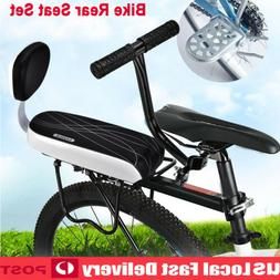 Bicycle Bike Rear Seat Cushion Rack Armrest Footrest Set Bac