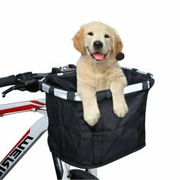Bike Basket Pet Carrier Pouch for Dogs and Cats Bicycle Fron