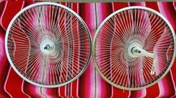 "LowRider Bike Bicycle 20""x1.75"" 144 spokes Chrome wheels rim"