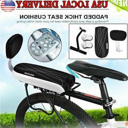 Bike Bicycle Rear Seat Cushion Rack Armrest Footrest Set Sea