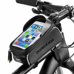 RockBros Bike Front Frame Bag Cycling Waterproof Fits Phones