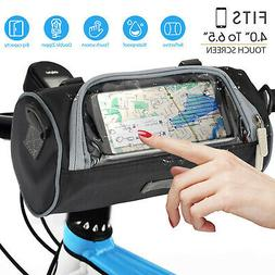 Bike Handlebar Tube Bag Bicycle Front Phone Touch Pouch Shou