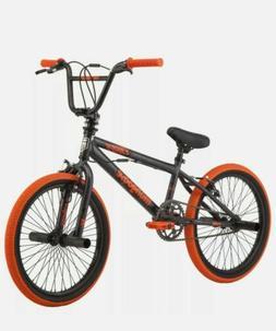 Mongoose BMX Bike, 20 inch Wheels, Dark Grey/Gray Orange New
