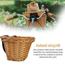 Childrens Wicker Bicycle Waterproof Shopping Basket For Kids