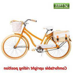 """Huffy Cruiser Bike 26"""" Orange Women Comfort Commuter Bicyc"""