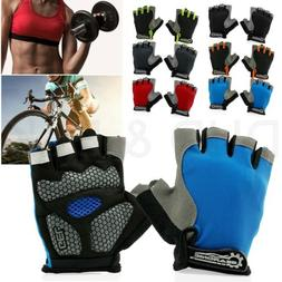 Cycling Men Women Mountain Bicycle Cycle Half Finger Gel Pad