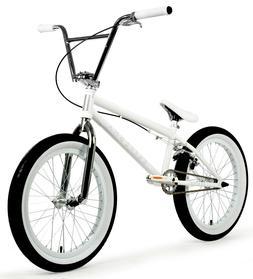 "Elite 20"" BMX Destro Bicycle Freestyle Bike 3 Piece Crank Wh"
