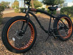Fat Tire Beach Cruiser Bike 🌴 Flat Black w Copper - 7 SPE