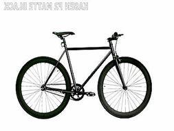 Kasen Fixed Gear Bike Fixie Matte Black 53CM Steel Frame 700