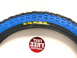KENDA FLAME BIKE TIRE 20 X 2.125 SHOULDER K-4 BLACK/BLUE