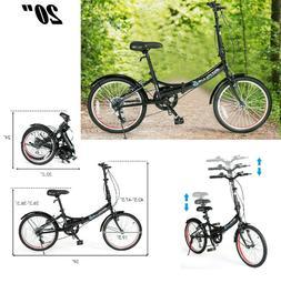 Folding Bicycle 20 Foldable Bike Lightweight Adult 7 Speed B