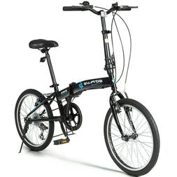 """Folding Bicycle 7 Speed Gears 20"""" Wheels Dual Brakes Lightwe"""
