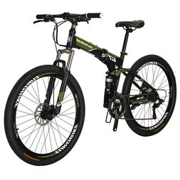 "Eurobike Folding Bike 21 Speed Full Suspension Bicycle 27.5"""