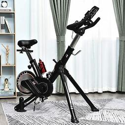 Upright Stationary Exercise Bike Indoor Cycling Bike w/ LCD