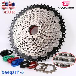 BOLANY KMC 6/7/8/9/10/11Speed MTB Bike Cassette Chain 11-40/