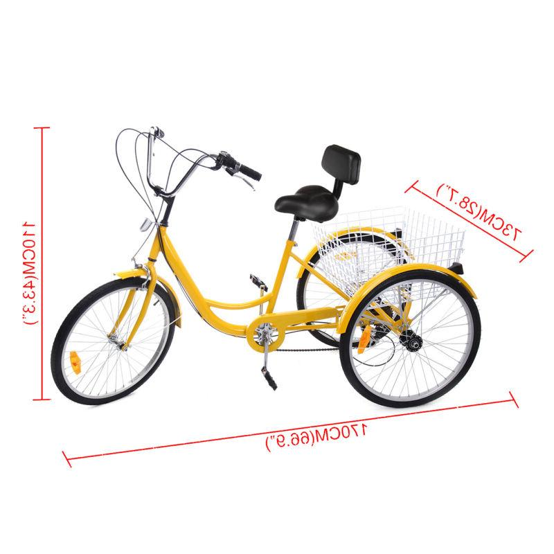 """6-Speed 24"""" Adult Bicycle Tricycle Dreirad"""