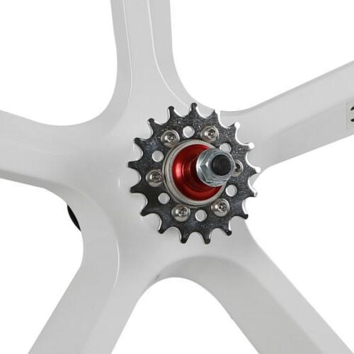 700c 5-Spoke Mag Wheels Set of & Rear Fixie Bike