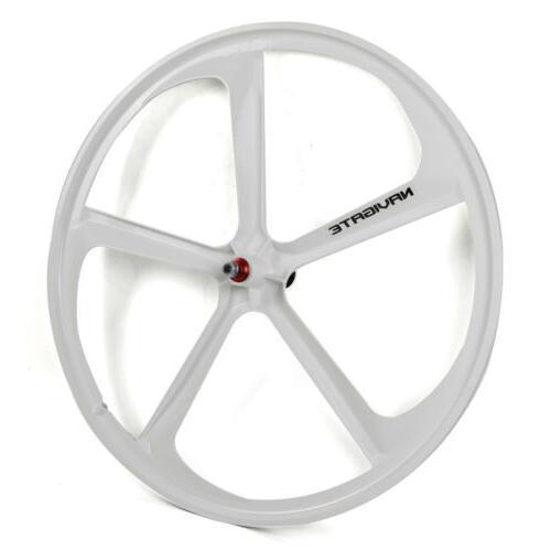 700c Fixed 5-Spoke Mag Wheels of Front & Fixie Bike White