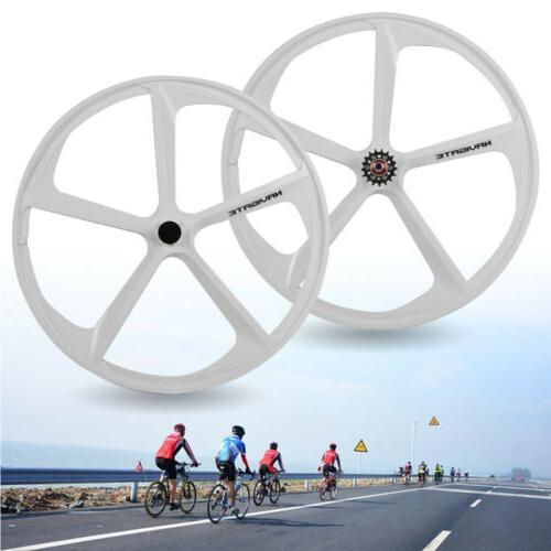 700c fixed gear 5 spoke mag wheels