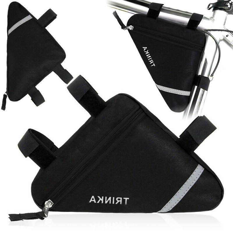 bicycle bike triangle storage bag cycling front