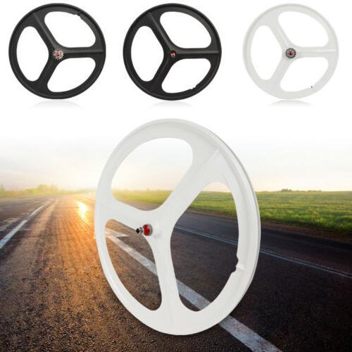 700c Fixed 3-Spoke Mag Wheels Rims Set of Fixie Bike