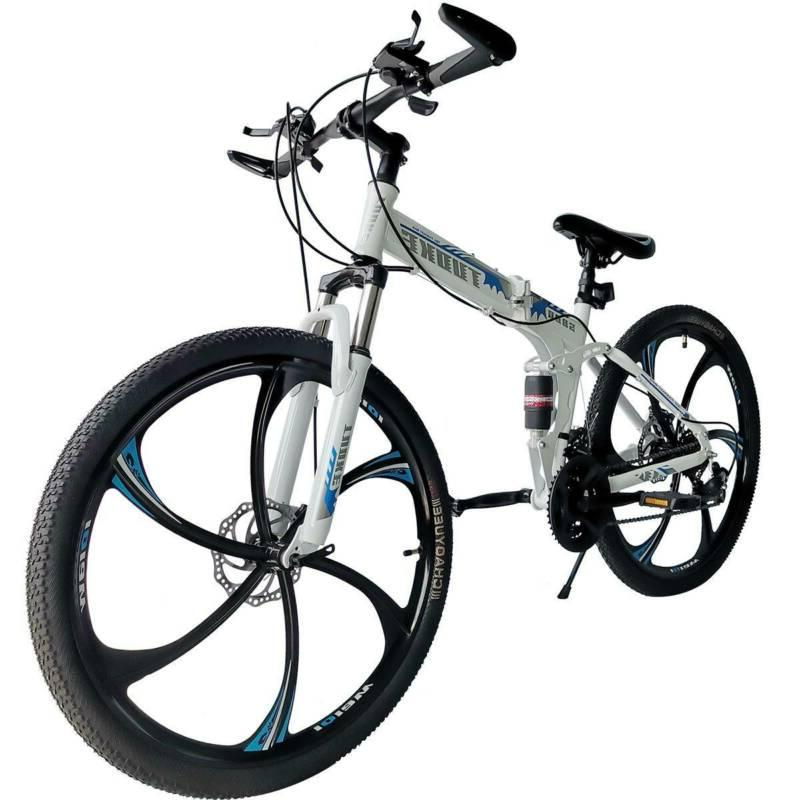 folding mountain bike 26 full suspension bicycle