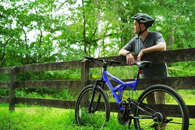 Kent Mountain Bike Men's Blue Full Suspension Trail Steel Frame New!