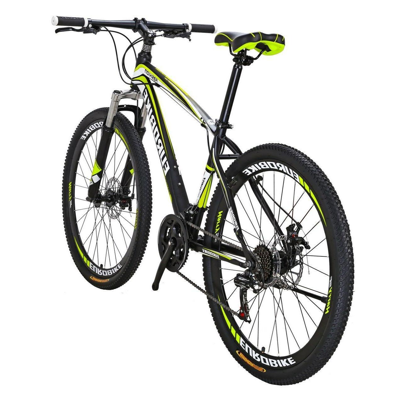 "Mountain Bike Front Shimano Speed Bikes 27.5"" bicycle L"