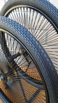 """Pair 26"""" Cruiser Lowrider Bicycle Dayton BLACK Wheels 144 Sp"""