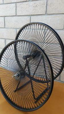 """Pair of 26"""" Cruiser Lowrider Bicycle Dayton BLACK Wheels 144"""