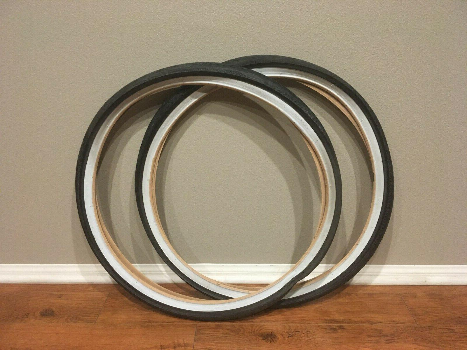 Bicycle Tire / White V100 + Tubes