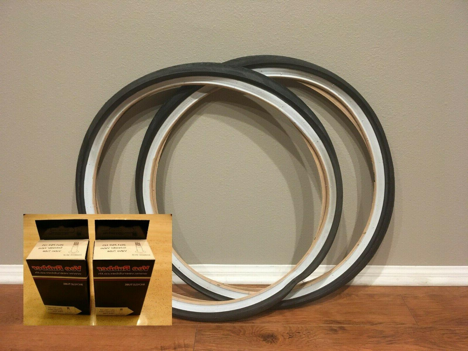 two 2 26x1 75 bicycle bike tire