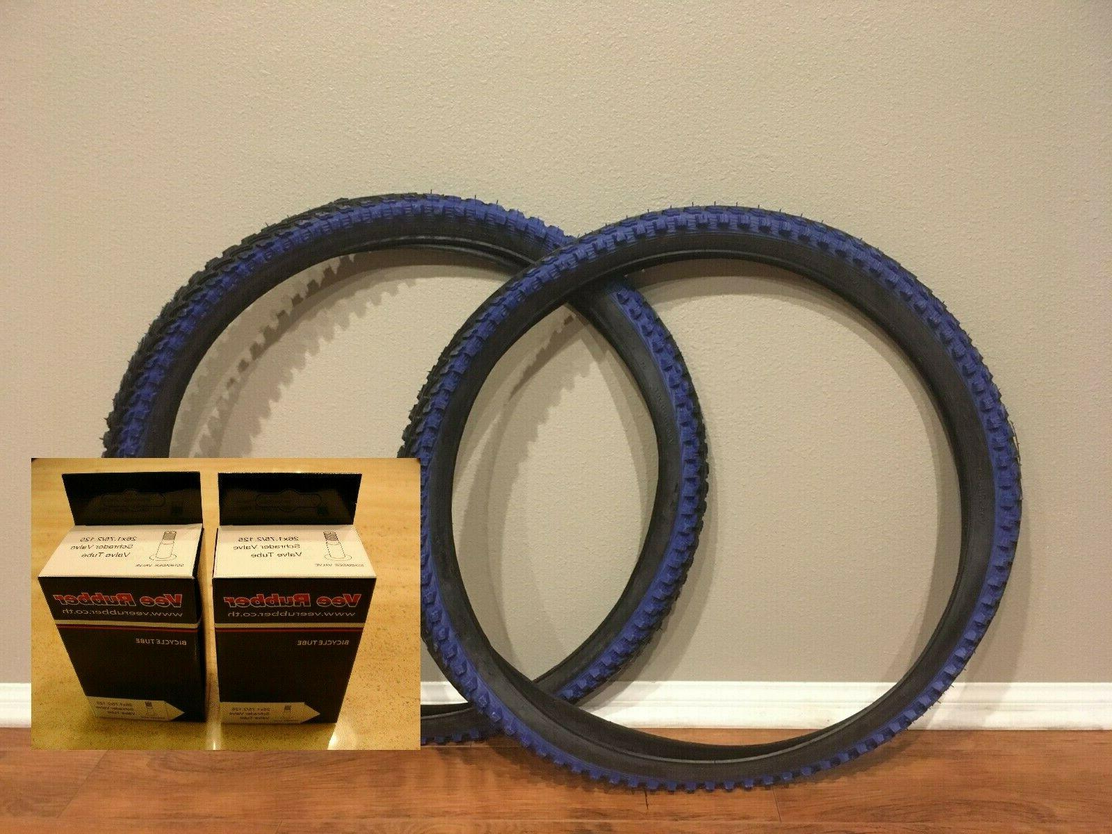 two tires 26x2 00 v288 blue shoulder