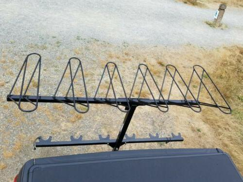Vertical hitch rack six carrier bicycle mountain Alta