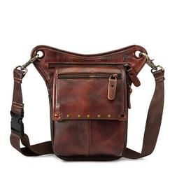 Leather Motorcycle Bag Retro Goth Shoulder Waist Bags Packs
