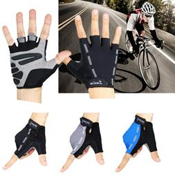 Men Women Sports Racing Cycling MTB Bike Bicycle Gel Half Fi