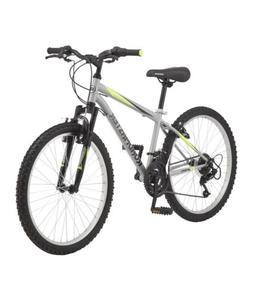 "Mountain Bike Roadmaster 24"" Granite Peak Silver Boy's Bicyc"